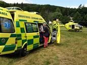 Záchranáři pomohli zraněnému horolezci. Ten se zřítil z šesti metrů nedaleko...