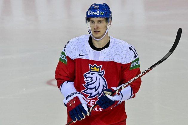 Dominik Kubalík vstřelil v utkání proti Dánům důležitý vyrovnávací gól.