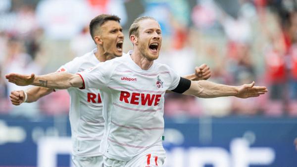 Florian Kainz slaví rozhodující gól Kolínu